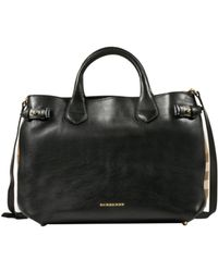 Burberry Black Banner Tote - Lyst