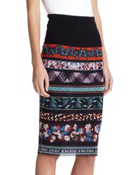 Jean Paul Gaultier Digital-Print Midi Skirt - Lyst