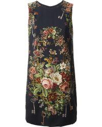 Dolce & Gabbana Floral Print Cady Dress - Lyst