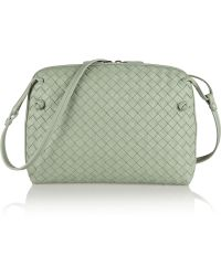 Bottega Veneta Messenger Intrecciato Leather Shoulder Bag - Lyst