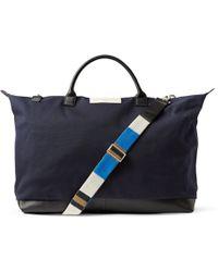 Want Les Essentiels De La Vie - Hartsfield Leather-Trimmed Organic Cotton-Canvas Holdall Bag - Lyst