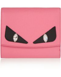 Fendi - Crayons Embellished Textured-leather Wallet - Lyst