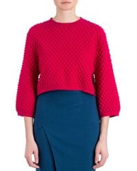 Zac Zac Posen Ivette Textured-Knit Sweater - Lyst