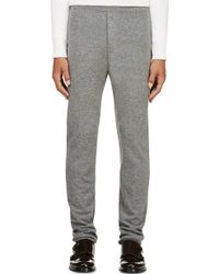 Haider Ackermann Grey Skinny Wool Lounge Pants - Lyst