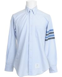 Thom Browne Blue Shirt - Lyst