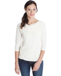 Lucky Brand Embellished Top - Lyst