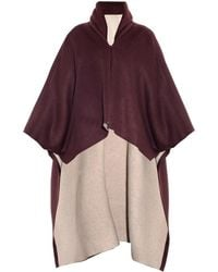 Adam Lippes Reversible Wool-blend Cape - Lyst