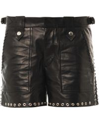 Isabel Marant Brodie Leather Shorts - Lyst