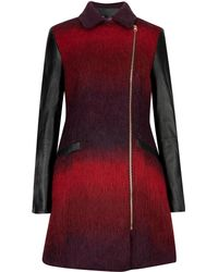 Ted Baker Double Breasted Wool Coat - Lyst