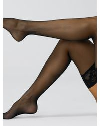 Wolford Affaire 10 Sheer Thigh Highs - Lyst