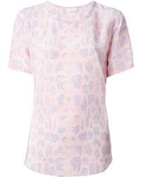 Equipment Leopard-Print Silk Top - Lyst