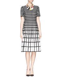 St. John Grid Intarsia Knit Dress multicolor - Lyst