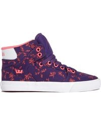 Supra Purple Vaider High Top Sneakers - Lyst