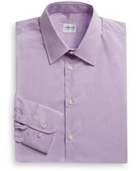 Armani Checked Dress Shirt - Lyst
