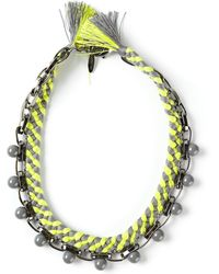Joomi Lim Beaded Braided Necklace - Lyst