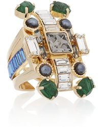 Emilio Pucci - Goldplated Crystal Ring - Lyst