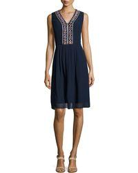 Shoshanna Beaded-Detail Sheath Dress - Lyst