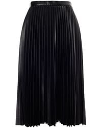 Whistles Sora Faux Leather Pleat Skirt - Lyst