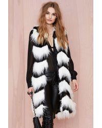 Nasty Gal Glamorous Opposition Faux Fur Vest - Lyst
