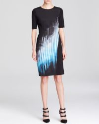 Elie Tahari Romayne Abstract Print Dress - Lyst