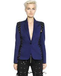 Jean Paul Gaultier Lace-Up Cotton Stretch Jacket - Lyst