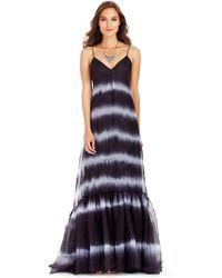 Diane von Furstenberg Dvf Brianna Tie Dye Silk Maxi Dress blue - Lyst