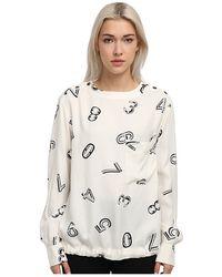See By Chloé Ls Shirt W Drawstring Waist - Lyst