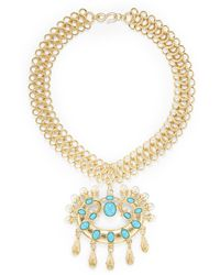 Kenneth Jay Lane Medallion Link Necklace - Lyst