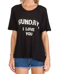 Wildfox Couture Dear Sunday Tee - Lyst
