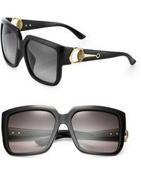 Gucci Horsebit 56Mm Square Sunglasses - Lyst