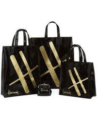 Harrods Medium Logo Shopper Bag - Lyst