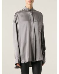Haider Ackermann Band Collar Blouse - Lyst