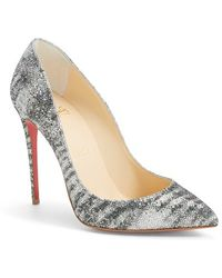 Christian Louboutin 'Pigalle Follies' Pointy Toe Pump silver - Lyst