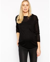 Asos Maternity Jumper With Twist Back Detail - Lyst