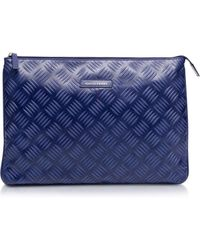 Francesco Biasia - Underground Large Embossed Leather Clutch - Lyst