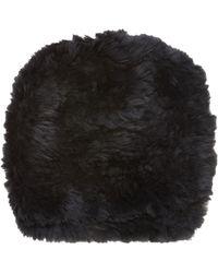 Barneys New York Fur Slouchy Beanie - Lyst