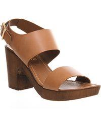 Office Winnie Double Strap Sandal brown - Lyst