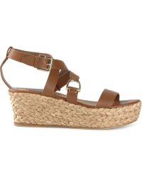 Ralph Lauren Purple Label Wedge Sandals - Lyst