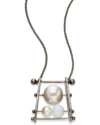 Cara Couture - Statement Pendant Necklace/silvertone - Lyst