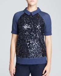 Kate Spade Milo Sequin Front Top - Lyst