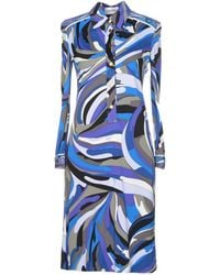 Emilio Pucci Purple Knee-length Dress - Lyst