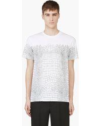 Kris Van Assche - White and Green Croc Print T_shirt - Lyst