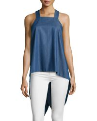 F.t.b By Fade To Blue - Square-neck Waterfall-back Tank - Lyst