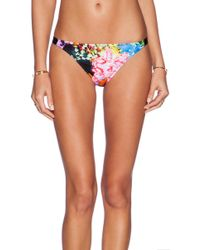 Milly Tropical Orchid Print Loulou Bikini Bottom - Lyst