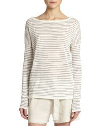 Vince Striped Boatneck Sweater - Lyst