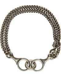 Ann Demeulemeester - Silver Curb Chain Bracelet - Lyst