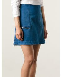 Stella McCartney Denim Aline Skirt - Lyst