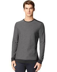 Calvin Klein Block Double Knit Jacquard Sweatshirt - Lyst