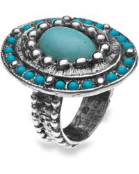 Platadepalo - American Indian Turquoise Silver Ring - Lyst