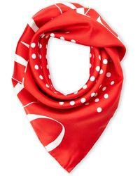 Valentino Red Silk Scarf - Lyst